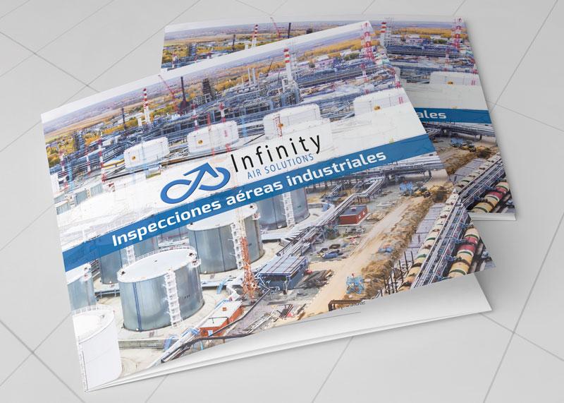 graphe-disseny-infinity-air-solutions-folleto-tríptico-cuadrado-presentación-corporativa-comercial